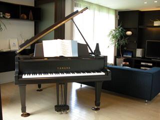 レンタル中のグランピアノ